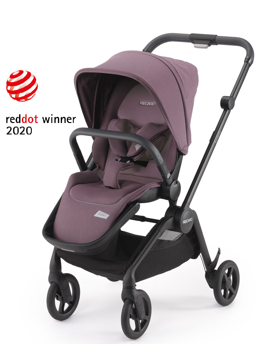 otroski vozicek recaro sadena pale rose red dot award